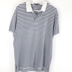 Polo Ralph Lauren Mens Poloshirt Collared Stiped